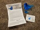 The Original Bluebird Of Happiness Signed And Dated Collectibles By Leoward
