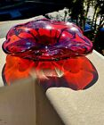 Vintage Mid Century Hand Blown Large MURANO GLASS Bowl Ash Tray
