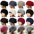 Mens Women Knitted Slouch Beanie Hat Woolly Oversized Hat Cap Skateboard Caps US