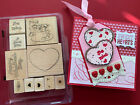 Stampin UP Frost a Cookie Valentines Day Baking Heart Cookie Rubber Stmp CARD