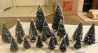 LEMAX VILLAGE ACCESSORY~LOT OF 20~WIRE BOTTLE BRUSH TREES~SNOW TIPS