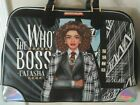 NICOLE LEE USA VERY LARGE SIZE WHOS THE BOSS LATASHA BOWLER OVERNIGHT DUFFEL