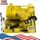 10 Ton Hydraulic Wire Battery Cable Lug Terminal Crimper Crimping Tool w 9 Dies