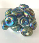 GREAT Signed KEVIN FULTON Studio Art Glass Applied Barnacle Cluster Paperweight