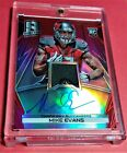 2014 PANINI SPECTRA FOOTBALL MIKE EVANS ROOKIE RED PRIZM PATCH ON CARD AUTO 10