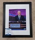 Framed Alex Trebek Authentic Signed 8x10 Photo Autographed, Jeopardy Beckett COA