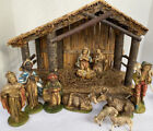 VINTAGE NATIVITY SET CHRISTMAS MANGER SCENE 11 PIECE FIGURINE SET MADE IN ITALY