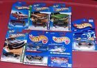 Hot Wheels Ford Mustang Blue Cards Lot of 7 with 2 Treasure Hunt