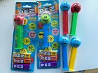NEW Pez Dispenser Funky Faces Smiley Tongue Happy Angry Sad Retired 2000 5.9