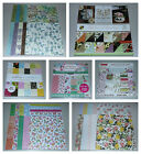 12x12 Spring  Floral Scrapbook Paper Lot DCWV Craft Smith Recollections