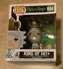 Funko Animation Rick and Morty 694 King of S#!+ w Sound Giant Figure NEW in Box