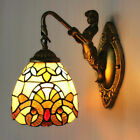 Modern Art Deco Style Wall Sconce Light Fixture Tiffany Stained Glass Wall Lamp