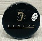 Fenton Black Glass Round Logo Paperweight 100th Anniversary Limited Edition