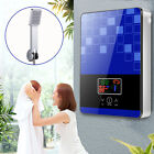 6500W Instant Tankless Water Heater Electric Hot Water Heater Shower Bath Blue