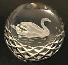 WATERFORD CRYSTAL SWAN PAPERWEIGHT RARE