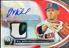 WILL MIDDLEBROOKS 2013 Bowman Platinum AUTO PATCH 14 25 (Red Sox)