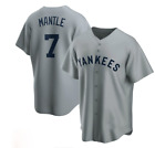 Mickey Mantle New York Yankees Player Jersey - Gray XS-4XL