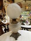 1880s  Crystal Satin Consolidated Glass HANGING GRAPE  GWTW  Lamp