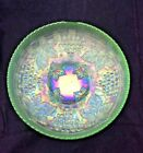 Northwood Grape  Cable ICE GREEN MASTER ICE CREAM Bowl Carnival BASKETWEAVE
