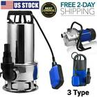 15HP Submersible Water Pump Stainless Steel Trash Clean Water Flooding 4300GPH