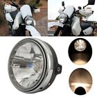 7 H4 35W LED Motorcycle Scooter Headlight Retro Cover Turn Signal Yellow Light