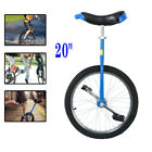 20 Unicycle Scooter Circus Bike Cycling Skidproof Tire Balance Exercise Blue