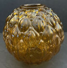 LARGE 9 Vintage Amber Glass Dome Lamp Shade ONLY Fixture Globe