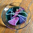 Vintage Glass Eye Studio Hand Blown Art Glass Signed MSH 1988 Gorgeous OOAK