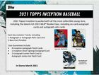 2021 Topps Inception Hobby Box Factory Sealed Pre-Sale Releases 17th