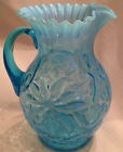 Antique Northwood Poinsettia Opalescent Pitcher 9 1 2