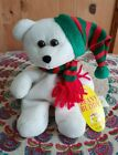 ESPECIALLY FOR YOU BEANY BUDDY WHITE WINTER CHRISTMAS TEDDY BEAR PLUSH SOFT TOY