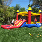 Inflatable Bounce House with Slide Castle 100 Vinyl with Blower