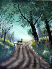 Deer in Woods Practice work stretched canvas for sell 11 x 14 Oil Painting
