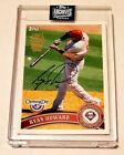 RYAN HOWARD 2020 TOPPS ARCHIVES AUTO AUTOGRAPH OPENING DAY CARD #1 1!