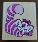 DISNEY Cheshire Cat wood mounted rubber stamp All Night Media