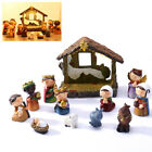 Light Up Christmas Nativity Scene Traditional Decoration Set LED Ornament Resin