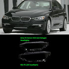 Pair Clear Headlight Glass Headlamp Lens Cover Transparent for BMW F30 2012 2015