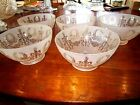Antique victorian etched glass gas shades 5 matching
