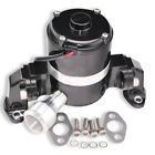 For SBC 350 383 Chevy Aluminum High Flow 12V Electric Water Pump Black