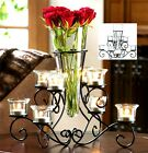 SCROLLWORK CANDLEHOLDER STAND WITH VASE CENTERPIECE  NIB