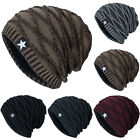 Mens Womens Cable Knitted Slouch Beanie Hat Outdoor Winter Warm Ski Skull Cap US