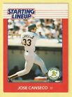 1988 Kenner Starting Lineup Cards #16 Jose Canseco