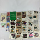 Vintage Iron On Fabric Appliqus Cross Stitch Floral Accessories Lot of 26