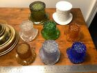 8 GLASS HATS 2 LARGE 3 MEDIUM 3 SMALL AMBER BLUEOLIVE GREEN WHITE SEE PICS
