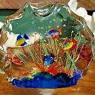 Murano Glass 6 Fish Sculpture 1960s large 8x6x2 made in Italy