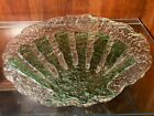 15 Recycled Art Glass Plate Dish Sand Dollar Clear and Green