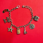 BRIGHTON CALIFORNIA theme bracelet MINT Condition GREAT CHARMS Lots of SHINE