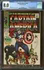 Captain America #100 CGC 8.0 OW W Pages