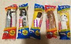 Star Wars Pez Dispensers (5) Vader Boba Chewbacca Storm Trooper NEW/Sealed Candy