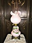 Vintage Fenton Type Hurricane Electric GWTW Parlor Table Lamp ITS OUTSTANDING